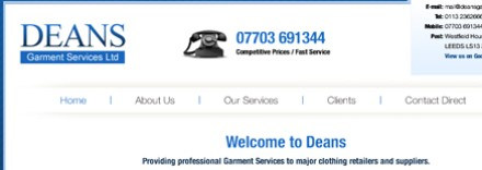 Deans Garment Services