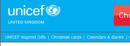Unicef UK email campaign